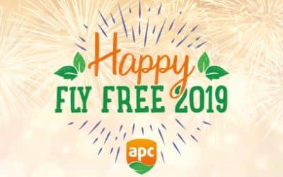 Glückliches fliegen-freies Jahr 2019